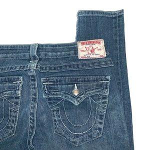 True Religion bling Julie flap pocket skinny jean